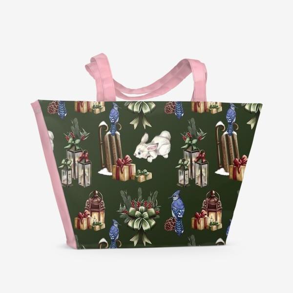 Пляжная сумка «паттерн зимняя сказка»