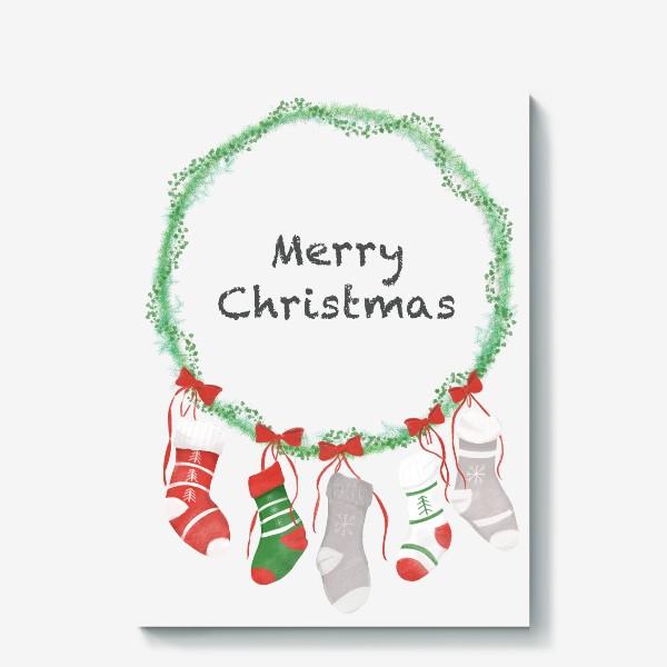Холст «Счастливого Рождества »