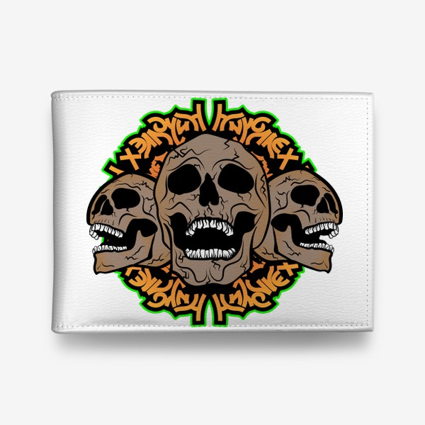 Кошелек «Хэллоуин и черепки»
