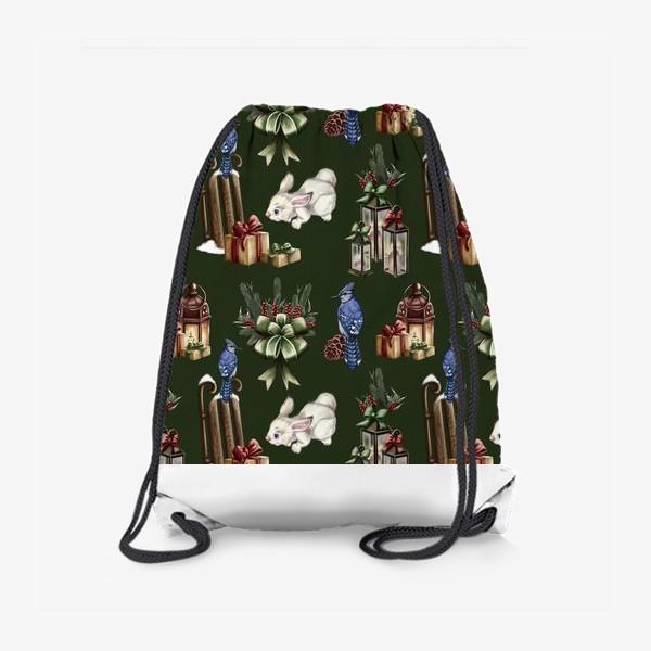 Рюкзак «паттерн зимняя сказка»