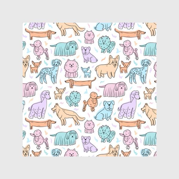 Скатерть «Разные породы собак(абстракция)»