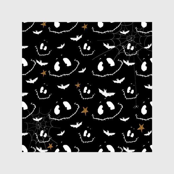 Шторы «Улыбки, летучие мыши и звезды на Хэллоуин (Halloween)»