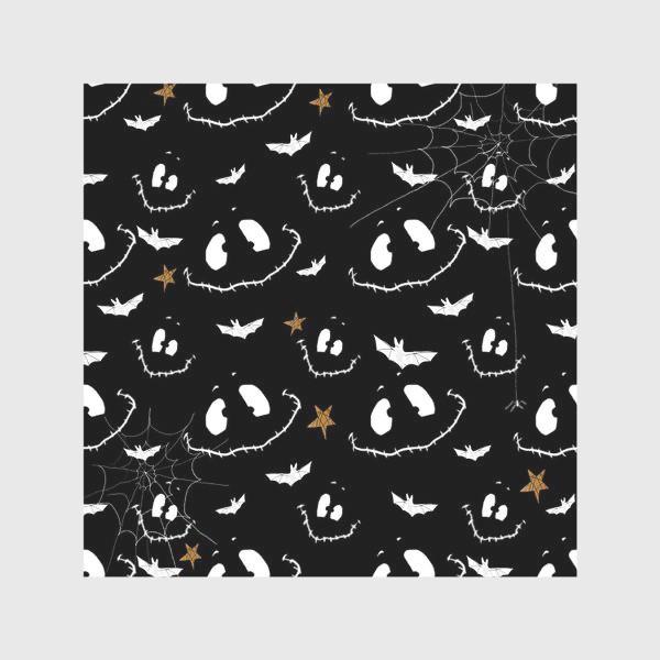 Скатерть «Улыбки, летучие мыши и звезды на Хэллоуин (Halloween)»