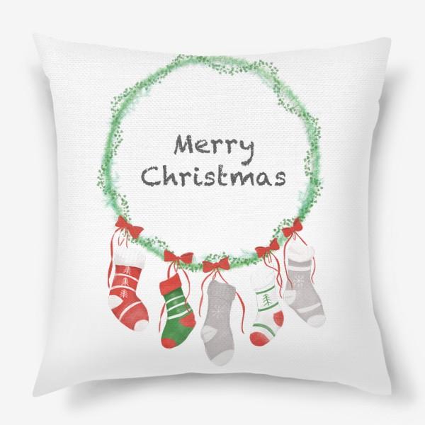 Подушка «Счастливого Рождества »