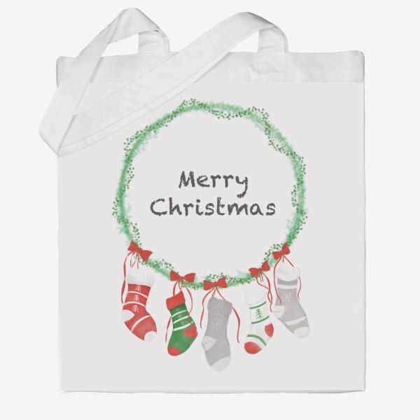 Сумка хб «Счастливого Рождества »