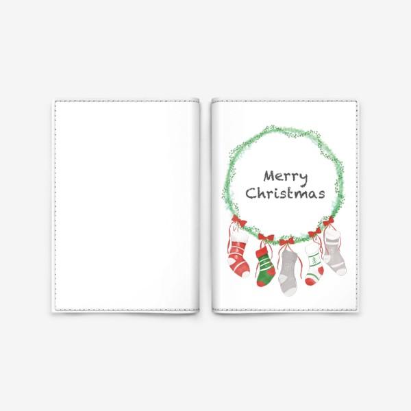 Обложка для паспорта «Счастливого Рождества »