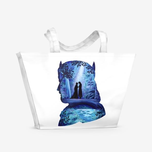 Пляжная сумка «Властелин колец Арагорн и Арвен»