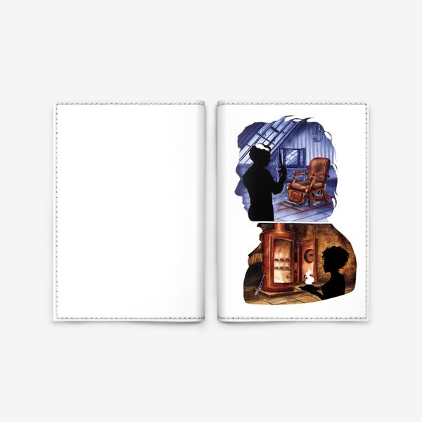 Обложка для паспорта «Цирюльник Тодд и Ловетт»