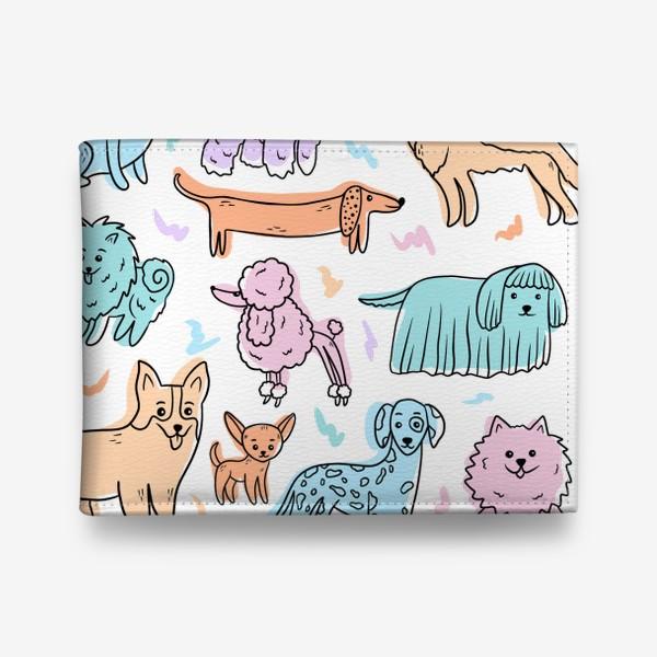Кошелек «Разные породы собак(абстракция)»