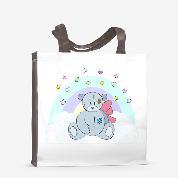 Сумка-шоппер «Плюшевый мишка на облаке»