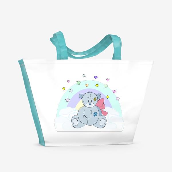 Пляжная сумка «Плюшевый мишка на облаке»