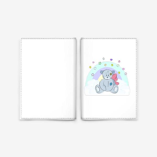 Обложка для паспорта «Плюшевый мишка на облаке»