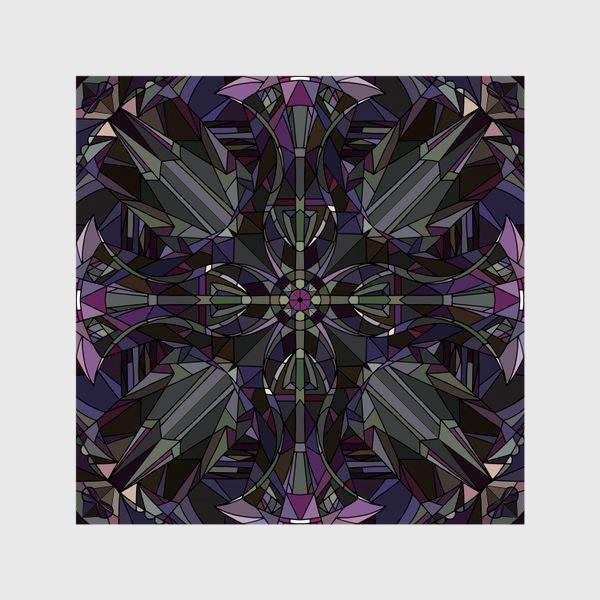 Шторы «Флористический геометрический орнамент»
