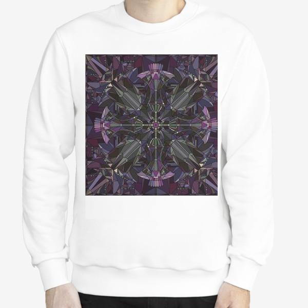 Свитшот «Флористический геометрический орнамент»