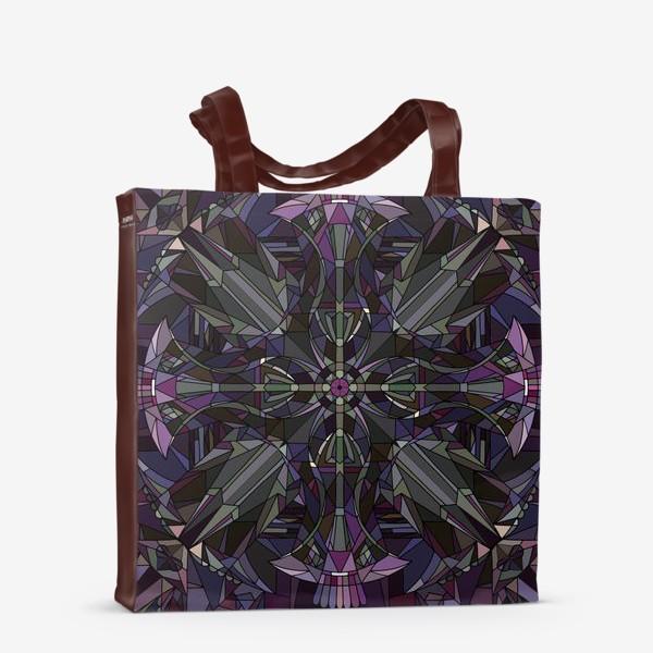Сумка-шоппер «Флористический геометрический орнамент»