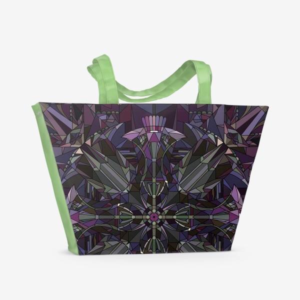 Пляжная сумка «Флористический геометрический орнамент»