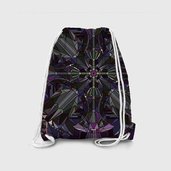Рюкзак «Флористический геометрический орнамент»