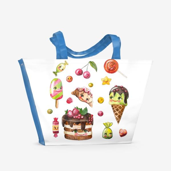 Пляжная сумка «Вкусняшки»