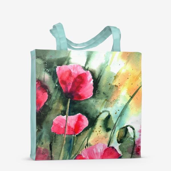 Сумка-шоппер «red poppy flowers»