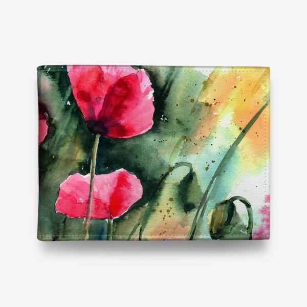 Кошелек «red poppy flowers»