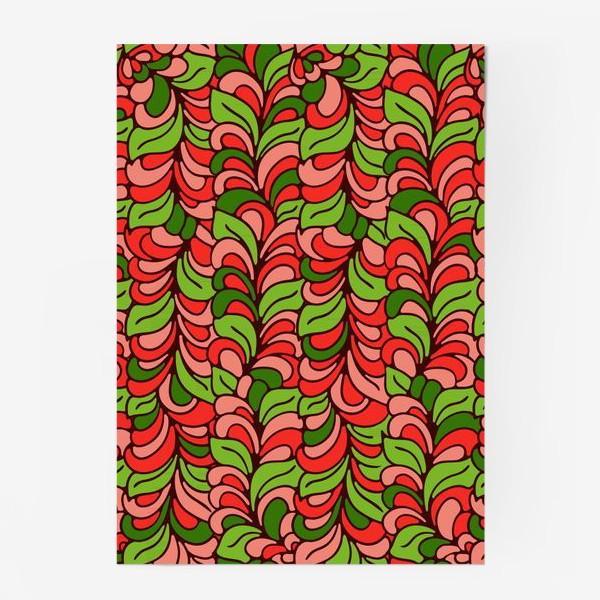 Постер «Бесшовный абстрактный растительный паттерн»