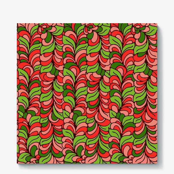 Холст «Бесшовный абстрактный растительный паттерн»