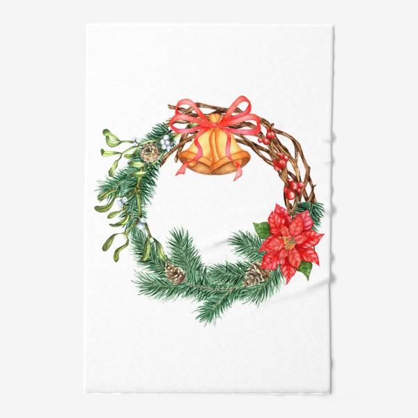 Полотенце «Рождественский венок»