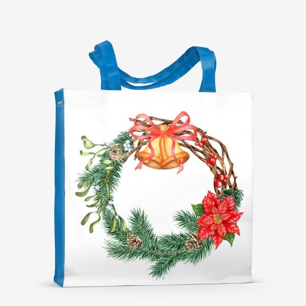 Сумка-шоппер «Рождественский венок»
