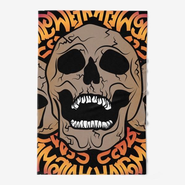 Полотенце «Halloween skulls»