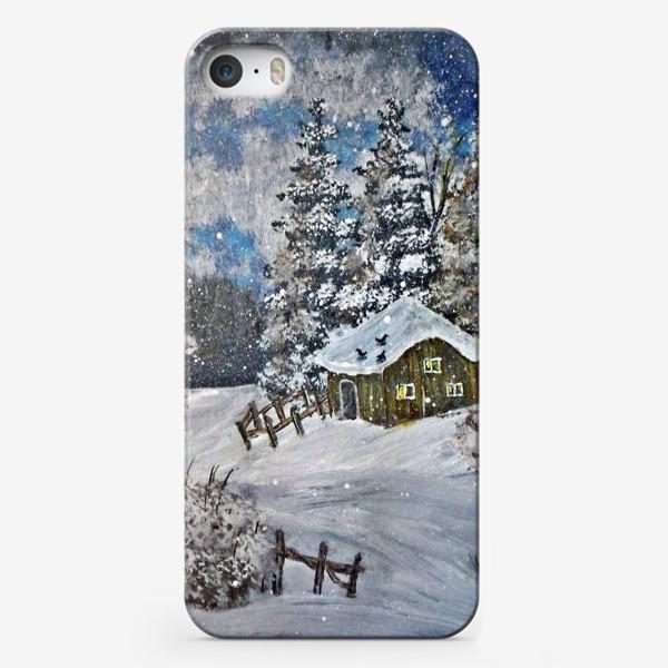 Чехол iPhone «Избушка в лесу»