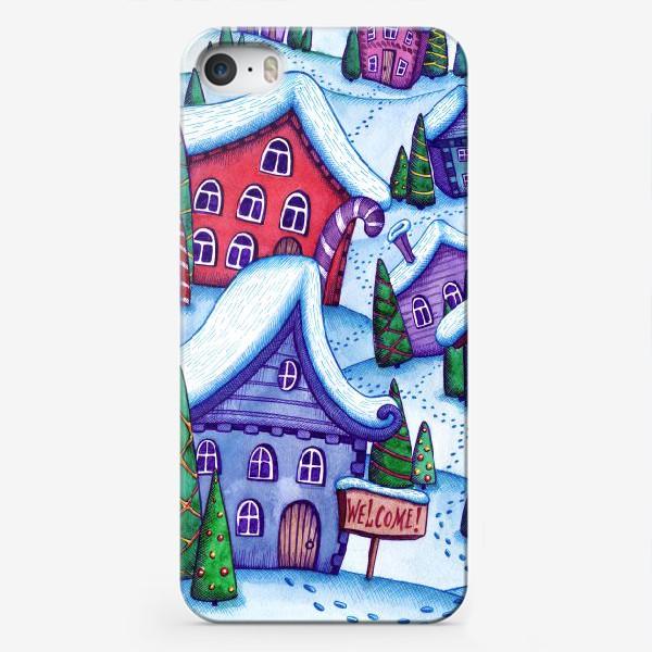 Чехол iPhone «Зимний город»