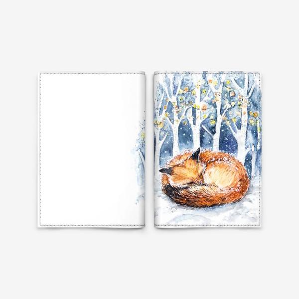 Обложка для паспорта «Зимняя лисичка»