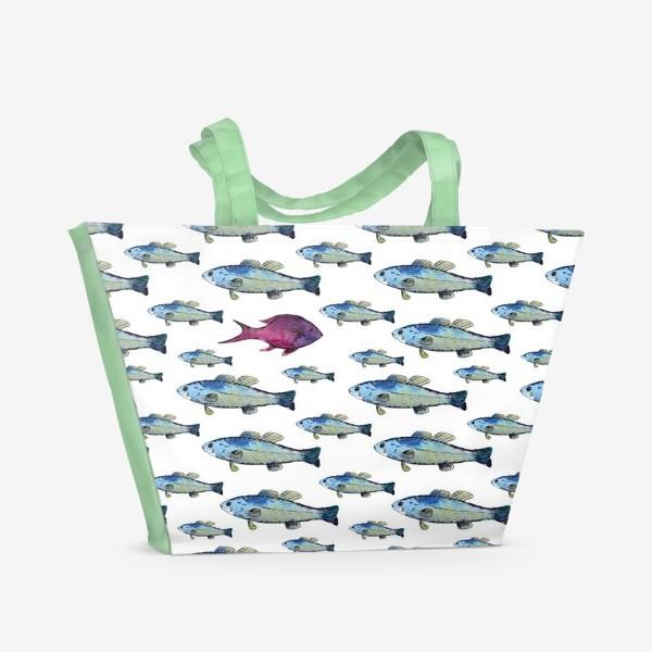 Пляжная сумка «Плыви своим путем»