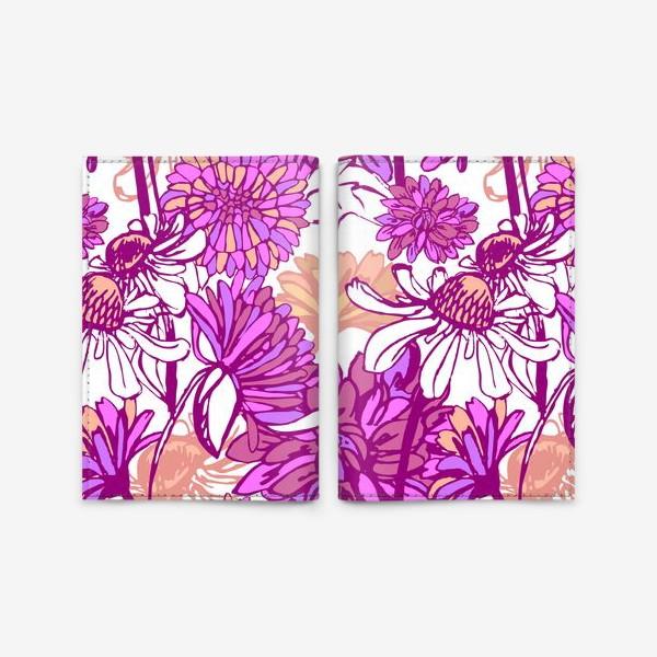 Обложка для паспорта «Purple blossom»