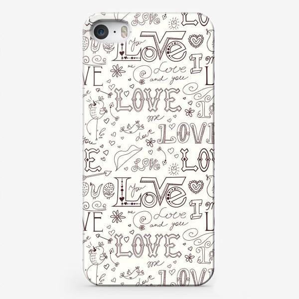 Чехол iPhone «Паттерн день святого валентина»
