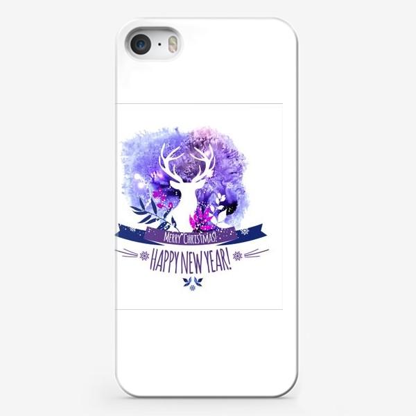 Чехол iPhone «Рождественский дизайн с оленем»