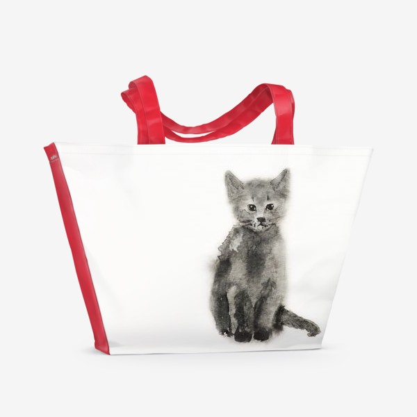 """Пляжная сумка «""""Черный котенок. Black cat""""»"""