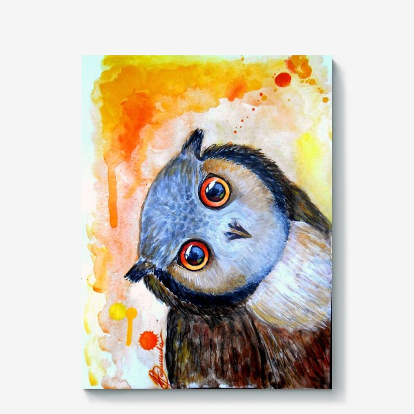 Холст «Любопытная сова»