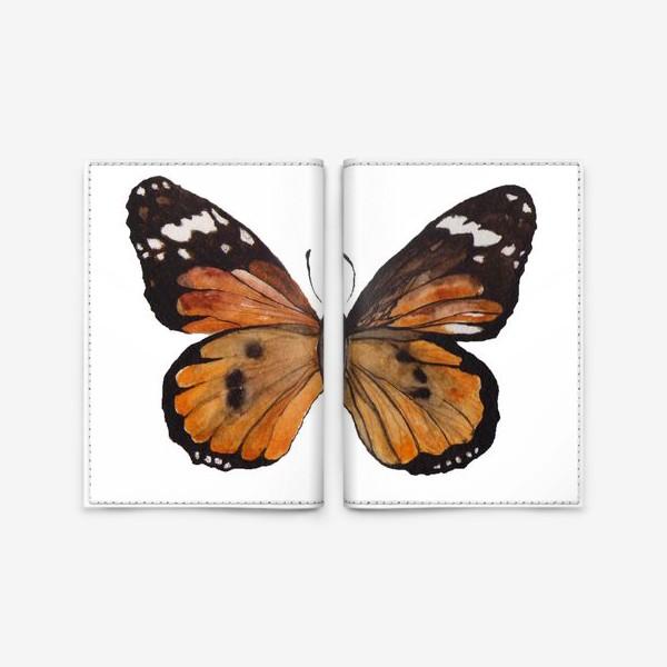 Обложка для паспорта «Тропическая бабочка»