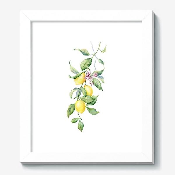 Картина «Ветка с лимонами»