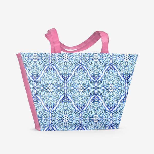 Пляжная сумка «Морозное кружево»
