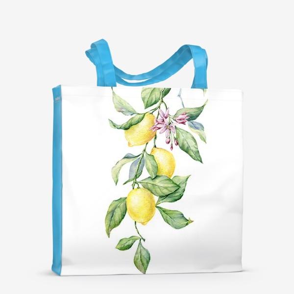 Сумка-шоппер «Ветка с лимонами»