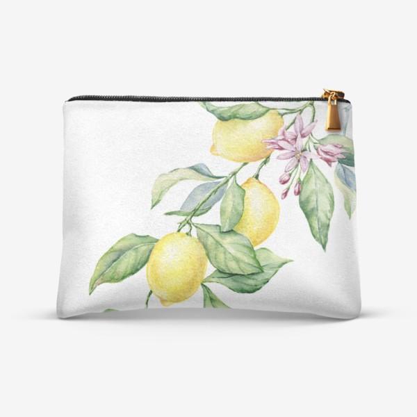 Косметичка «Ветка с лимонами»