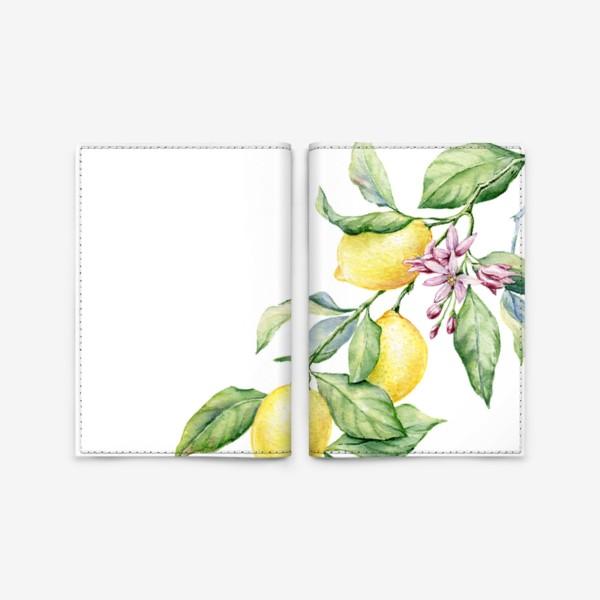 Обложка для паспорта «Ветка с лимонами»