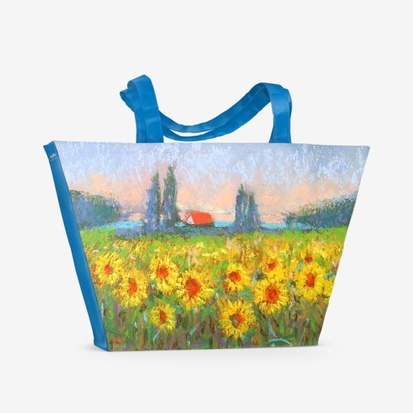 Пляжная сумка «Подсолнухи»