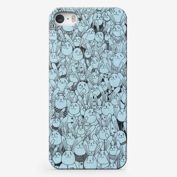 Чехол iPhone «Зайцы, много зайцев!»