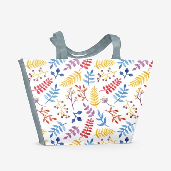 Пляжная сумка «Акварельная Весна»
