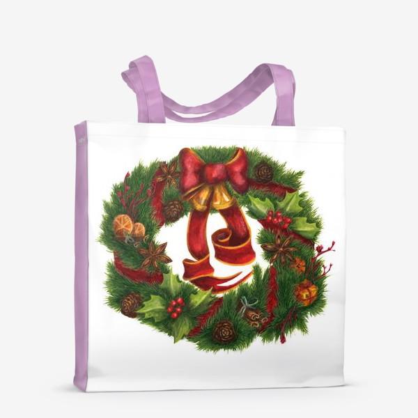 Сумка-шоппер «Рождественский венок Christmas wreath Ар нуво»