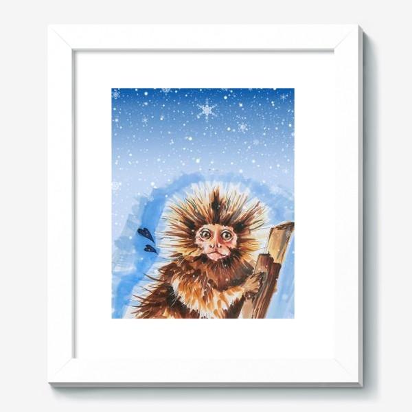 Картина «Зимняя обезьянка»