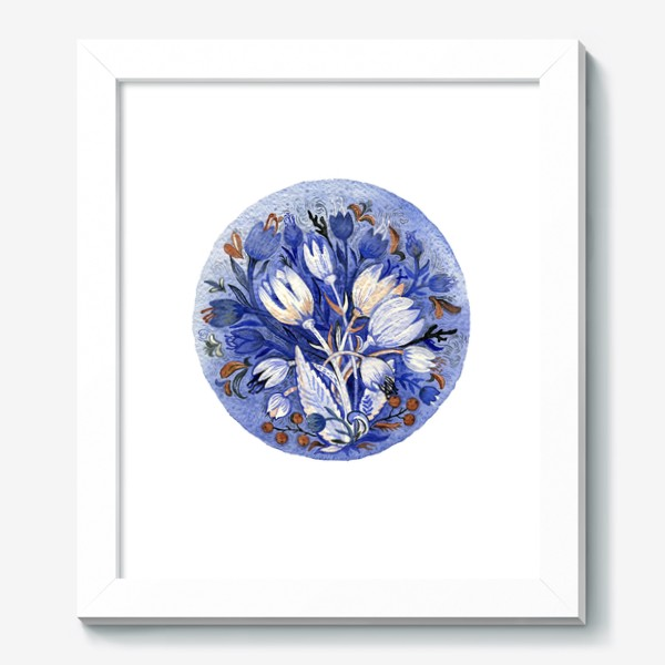 Картина «Зимние цветы»